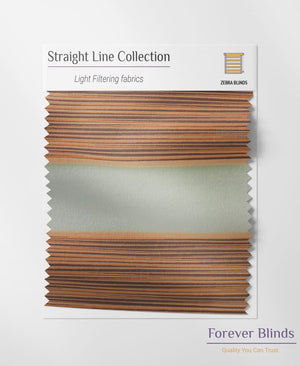Copper Stripes - Zebra Blinds