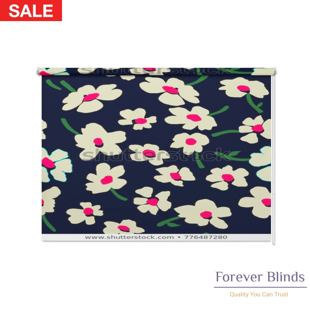 Cute Floral Pattern Blockout