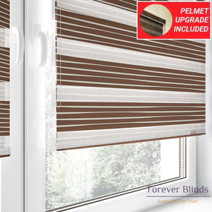 Caramel Pleats - Zebra Blinds