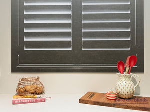 Dark Java - Timber Stained Plantation Shutters
