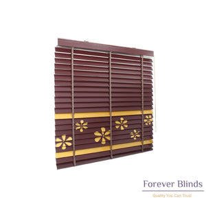 Floral Design Timber Venetian Blinds
