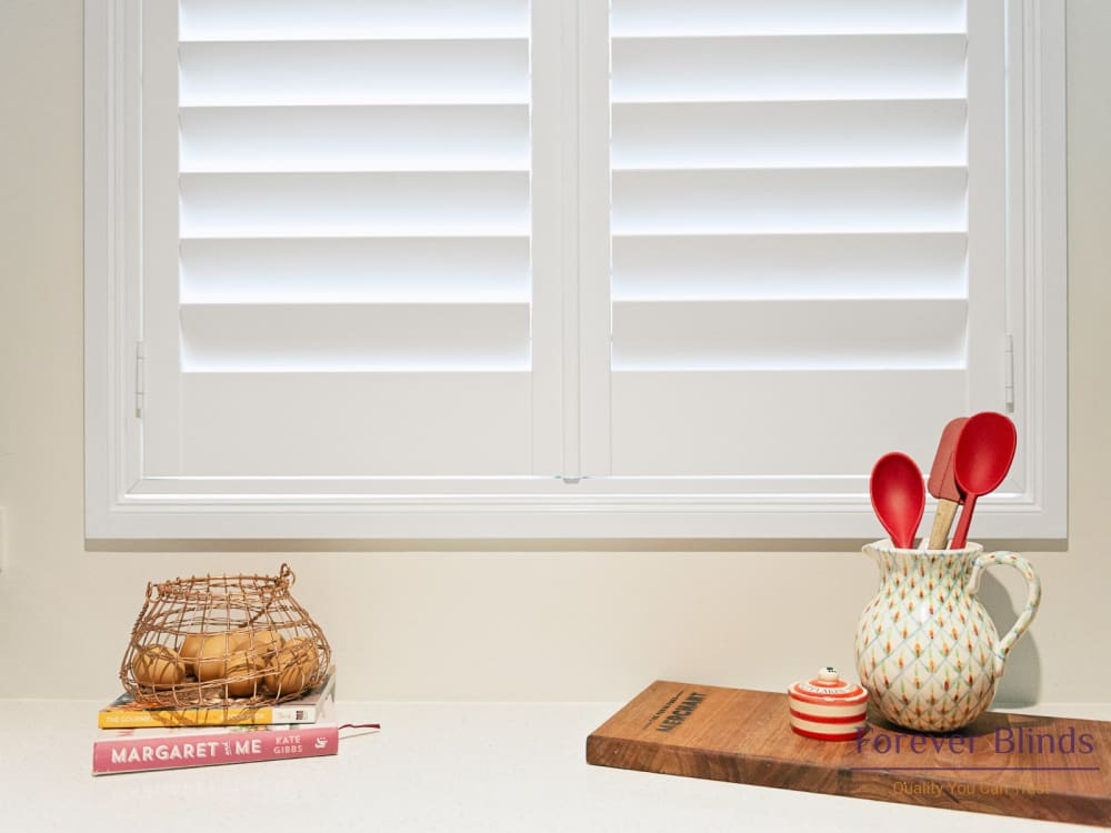 Grey Timber Plantation Shutters Forever Blinds