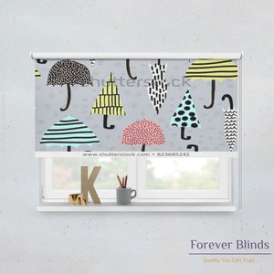 Hand Drawn Patterns Blockout Roller Blind Printed Blinds