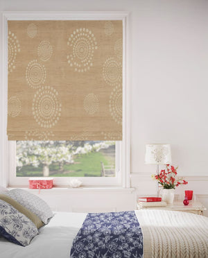 Harvest Gold Roman Blinds