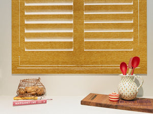 Honey Oak - Timber Stained Plantation Shutters