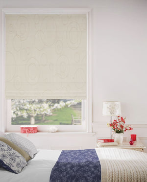 Honey White Roman Blinds
