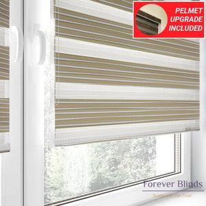 Beige Pleats - Zebra Blinds