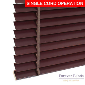 Mahogany Timber Venetian Blinds