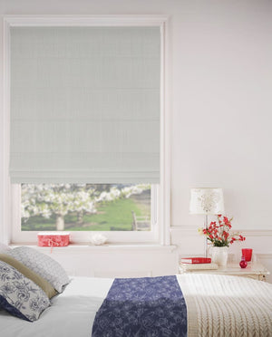 Metal Grey Roman Blinds