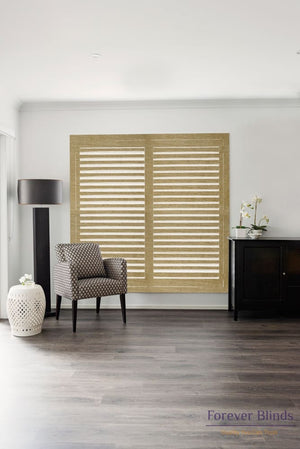 Natural - Timber Stained Plantation Shutters