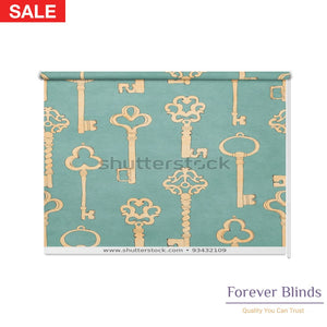 Retro Keys Blockout Printed Roller Blinds