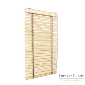 Rich Almond Timber Venetian Blinds