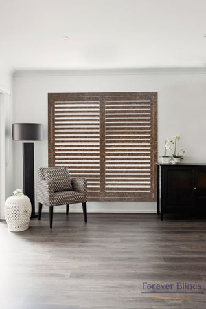 Rich Mahogany - Timber Stained Plantation Shutters