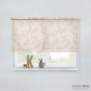Sheer Caramel and Blockout Beige Basics - Double Roller Blinds