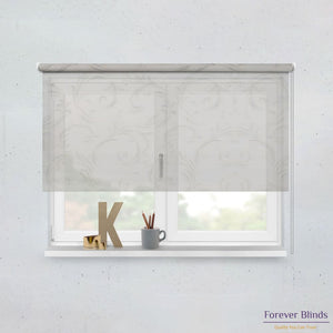 Sheer Grey and Blockout Basics - Double Roller Blinds