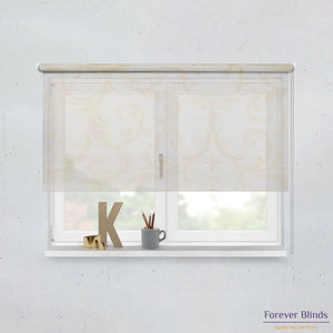 Sheer Honey and Blockout Beige Basics - Double Roller Blinds