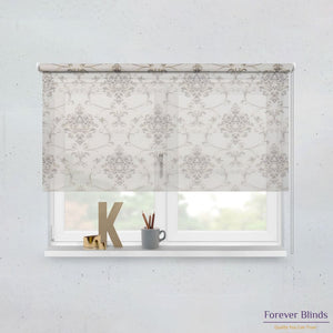 Sheer Pebble and Blockout Sand Premium - Double Roller Blinds