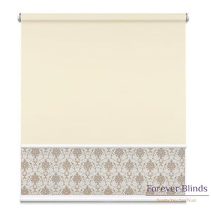 Sheer Shimmer Honey - Blockout Beige Double Roller Blind Blinds
