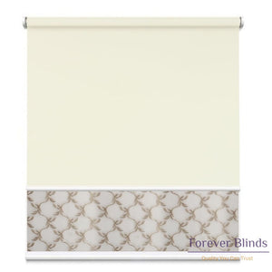 Sheer Soft Beige - Blockout Champagne Double Roller Blind Blinds