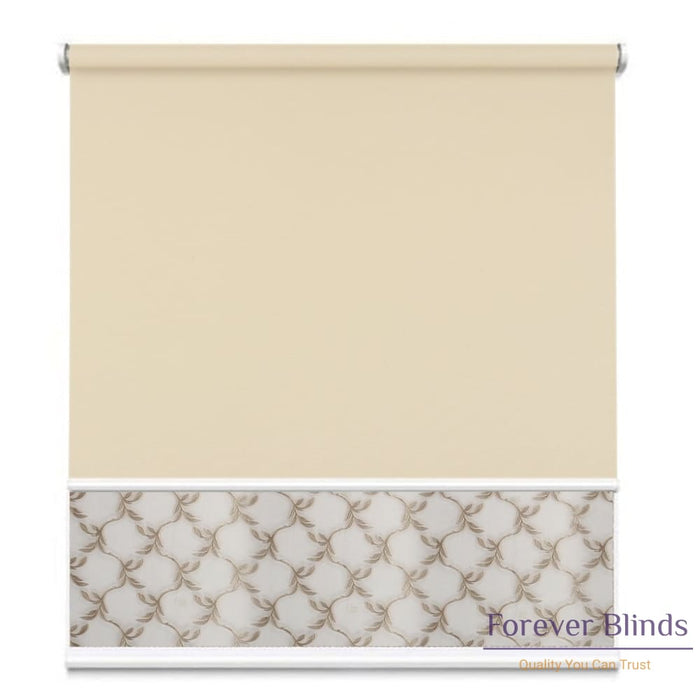 Sheer Soft Beige - Blockout Sand Double Roller Blind