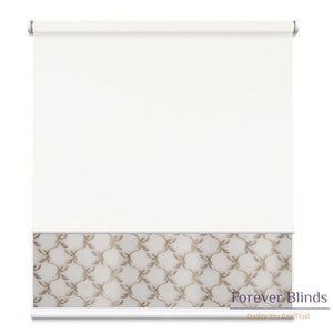 Sheer Soft Beige - Blockout White Double Roller Blind Blinds