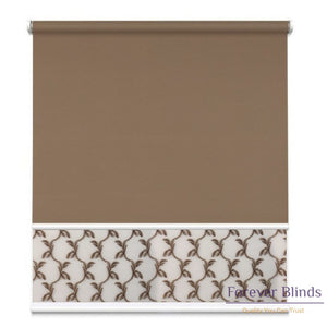 Sheer Soft Caramel - Blockout Brown Double Roller Blind Blinds