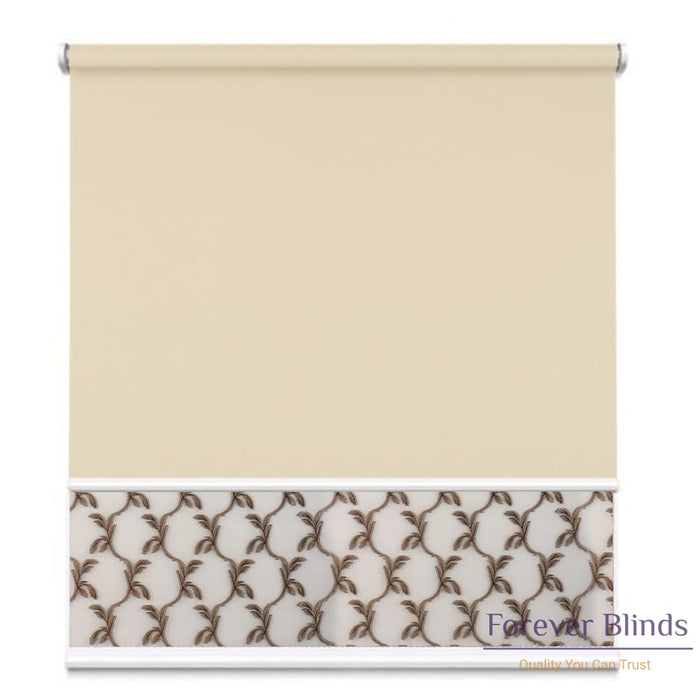 Sheer Soft Caramel - Blockout Sand Double Roller Blind