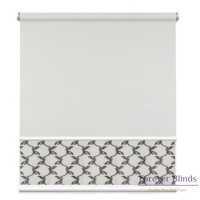 Sheer Soft Grey - Blockout Cool Grey Double Roller Blind