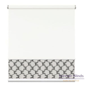 Sheer Soft Grey - Blockout White Double Roller Blind Blinds