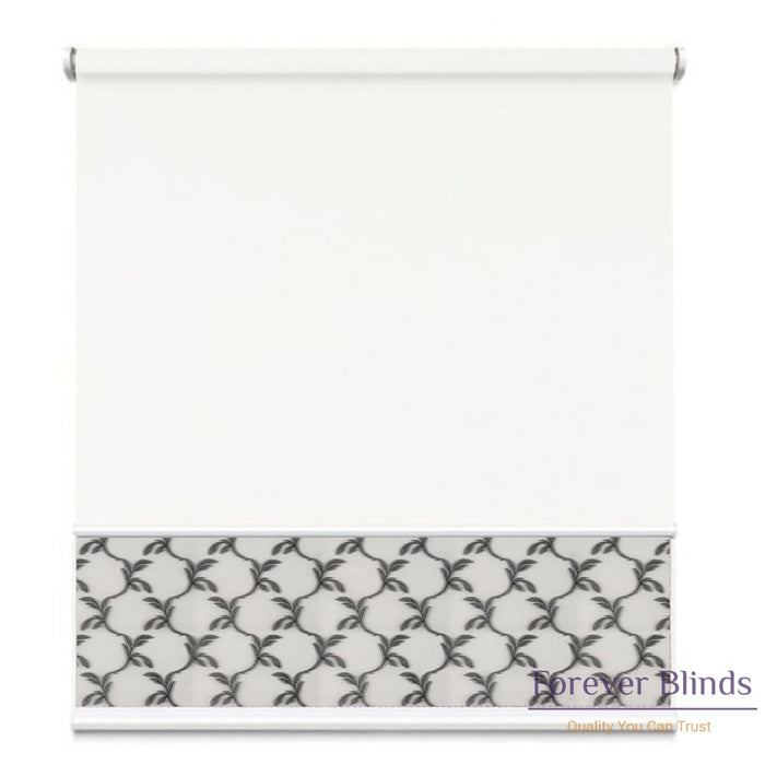 Sheer Soft Grey - Blockout White Double Roller Blind
