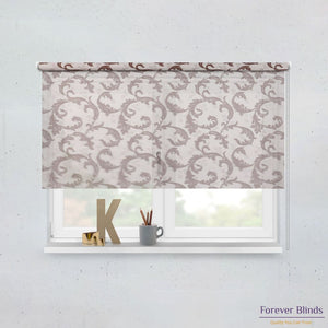 Sheer Wine and Blockout Brown Basics - Double Roller Blinds