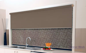 Sheer Wine - Blockout Brown Double Roller Blind Blinds