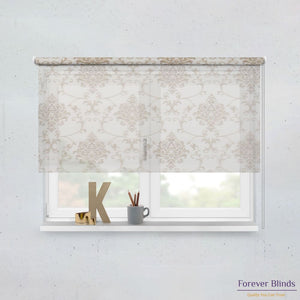 Shimmer Honey and Blockout Beige Premium - Double Roller Blinds