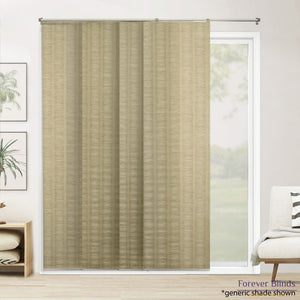 Shimmery Silver / Cream Panels - Panel Blinds