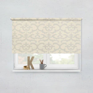 Shimmery Silver / Cream Roller Blinds