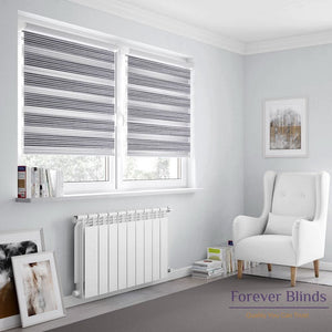Silver Stripes - Zebra Blinds