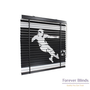 Soccer Love Timber Venetian Blinds