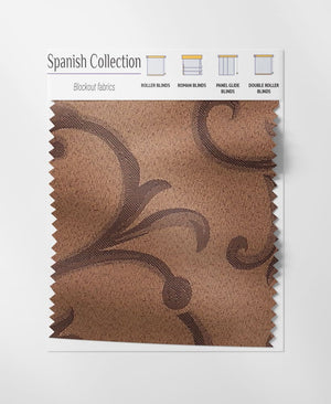 Spanish Coffee Roman Blinds