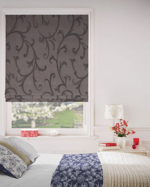 Spanish Walnut Roman Blinds