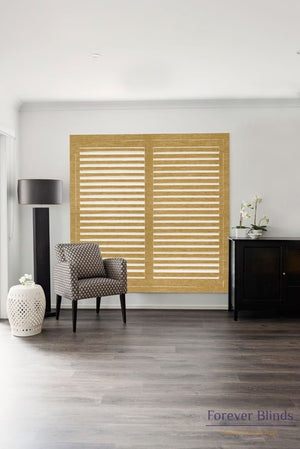 Sugar Maple - Timber Stained Plantation Shutters