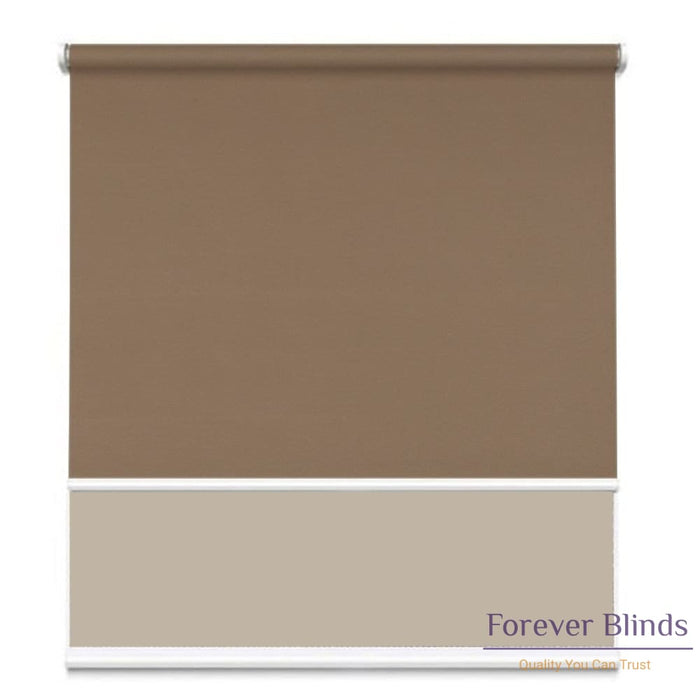 Sunscreen Beige - Blockout Brown Double Roller Blind