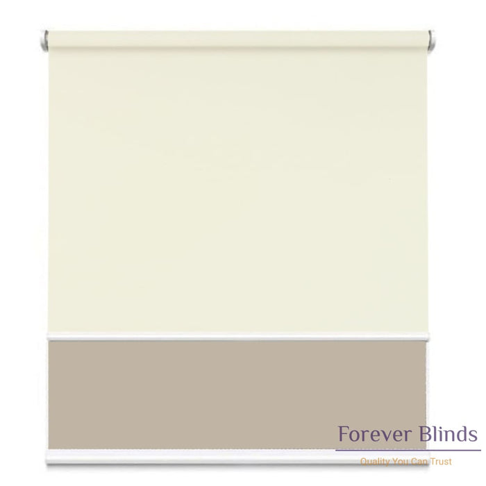 Sunscreen Beige - Blockout Champagne Double Roller Blind