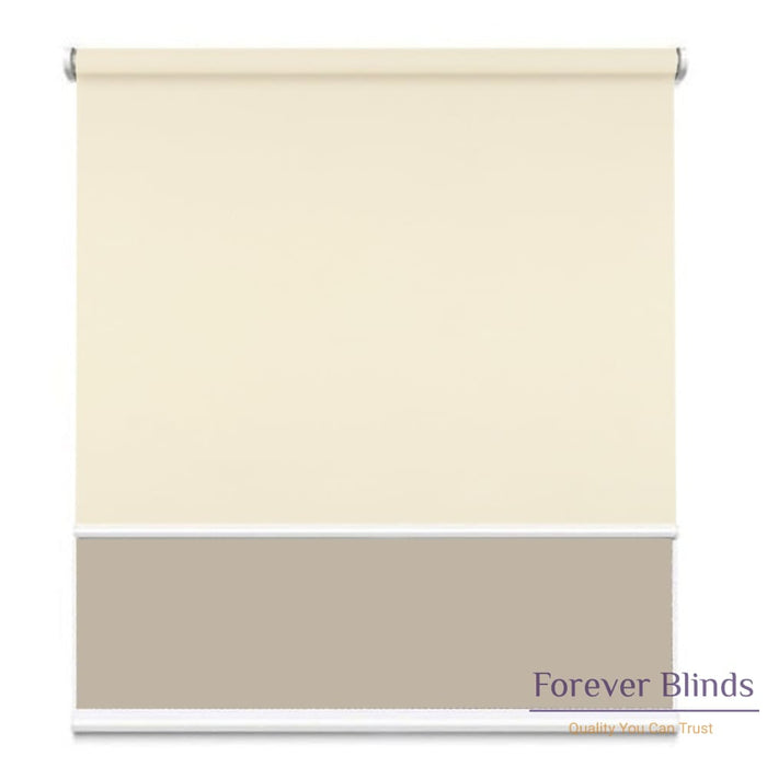Sunscreen Beige - Blockout Beige Double Roller Blind