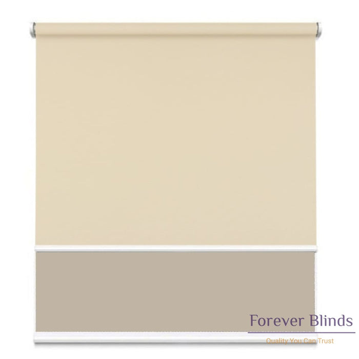 Sunscreen Beige - Blockout Sand Double Roller Blind
