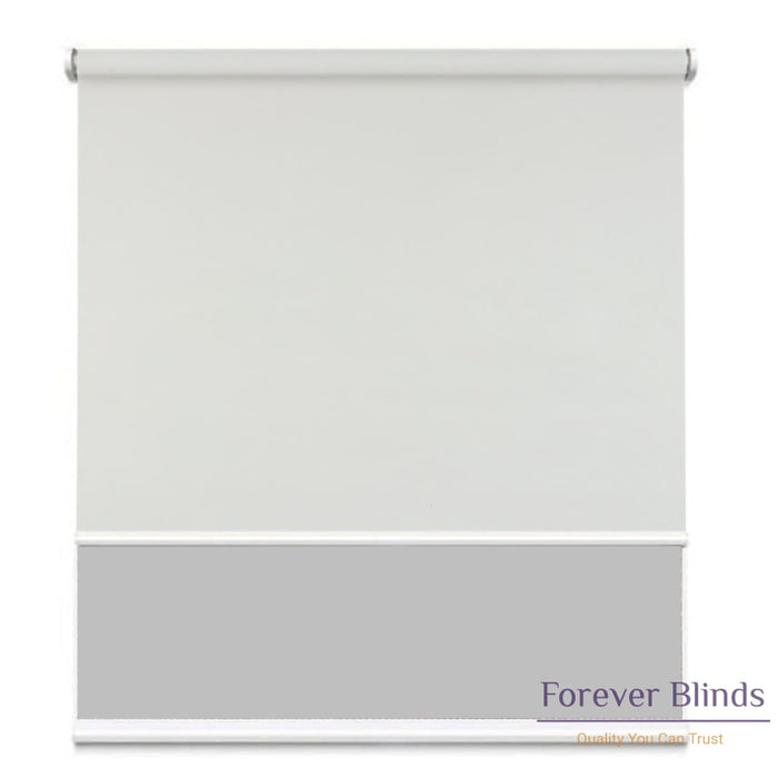 Sunscreen Grey - Blockout Cool Grey Double Roller Blind