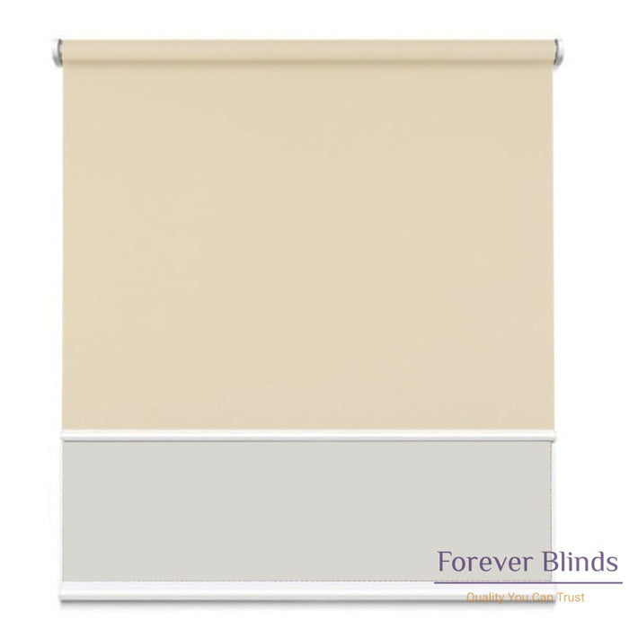Sunscreen White - Blockout Sand Double Roller Blind