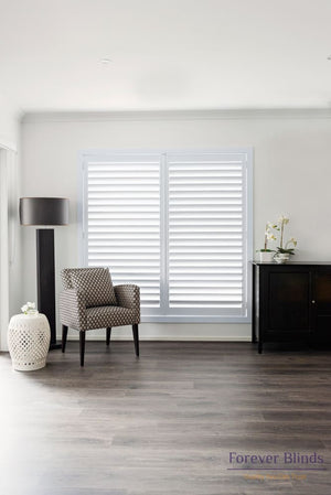 Terrace White - Aluminium Plantation Shutters