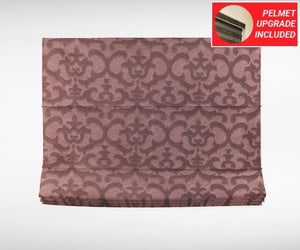 Textured Antique Fuchsia Roman Blinds