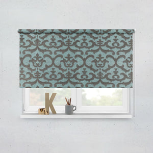 Textured Turquoise Roller Blinds