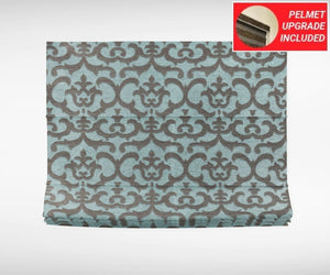 Textured Turquoise Roman Blinds